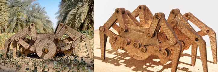 くねりながら動くヤシの木生物、atifa saeed for tashkeel at design days dubai 2015