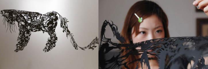 手でカットされた紙の彫刻 by Nahoko Kojima