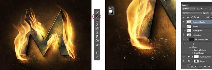 衝撃的な燃えているテキストエフェクトを作る方法 PhotoshopCC 2014