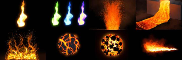 エレメントの制御:すべての形のペイントの火