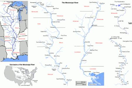 maps united states map mississippi river