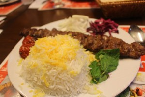 Kebab Soltani at Cafe Perspolis