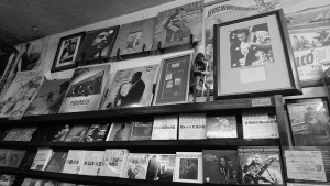 Love and desire for Blues music made him to put those blues musicians' posters on the wall