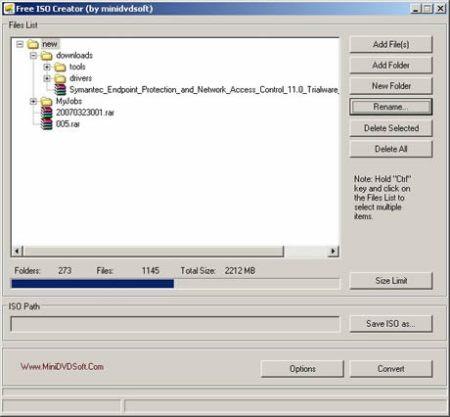 Archivos ISO, crealos con Free ISO Creator