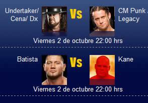 WWE Smackdown online, Viernes 2 de octubre