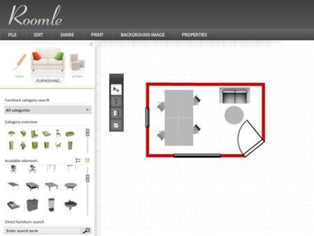 Diseño de cuartos con roomle.com