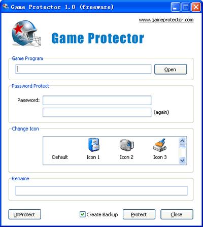 Poner contraseña a juegos, Game Protector