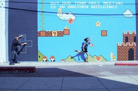 Mural de Super Mario Bros
