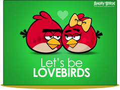 Postales para San Valentín de Angry Birds