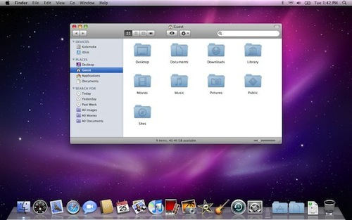 Snow Leopard Desktop La historia de Mac OS X en imágenes