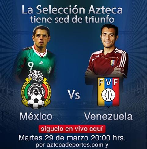 mexico venezuela en vivo amistoso 2011 México vs Venezuela en vivo, amistoso internacional