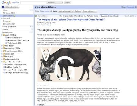 Olvídate de los Feeds cortados con Super Google Reeder para Google Chrome