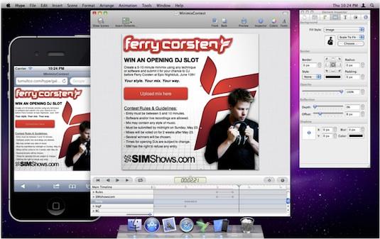 hype for mac Crea animaciones en HTML5 sin saber de programación con Hype para Mac