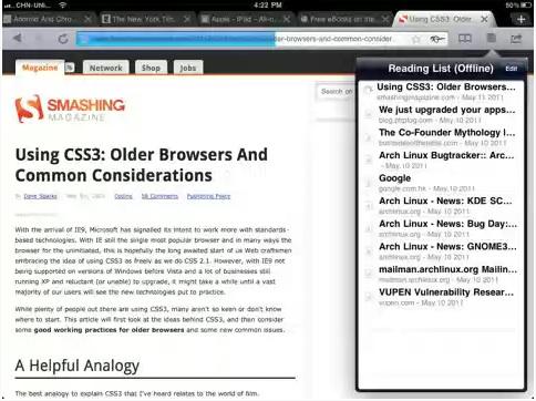 iChromy para ipad iChromy, el Google Chrome para iPad