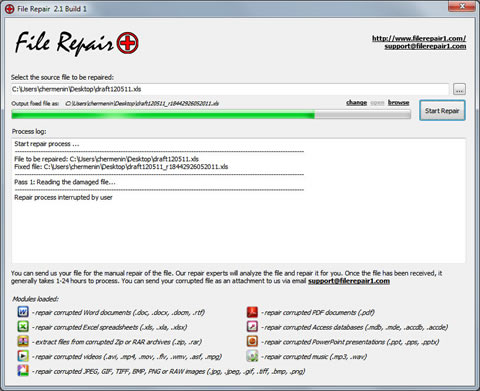 file repair Reparar archivos con File Repair