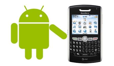 blackberry compatible android Blackberry podría ser compatible con Android en el 2012