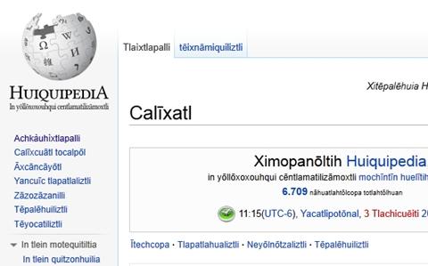 huiquipedia nahuatl Wikimedia México se vuelve capítulo oficial