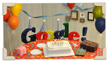 Googles 13th Birthday 2011 hp ¡Feliz Cumpleaños Google! 13 años y contando