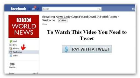 Video de la muerte de Lady Gaga anzuelo para nuevo fraude en redes sociales