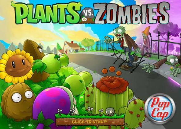 plants vs zombies 590x421 Plantas vs Zombies, el exitoso videojuego