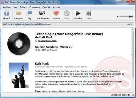 scrobbler laast.fm Scrobbler de Last.fm para Windows