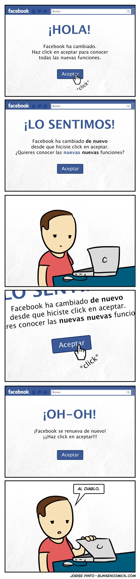 facebook actualizaciones infinitas humor Facebook y sus actualizaciones infinitas [Humor]