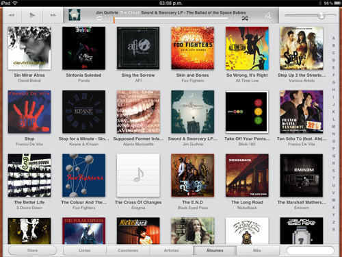musica ipad Novedades en las Apps de iOS 5 [Safari, Música, Calendario y Game Center]