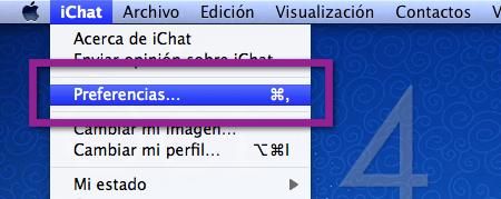 preferencias ichat Agrega tu cuenta de Messenger a iChat de una manera mas sencilla en Mac OS X Lion