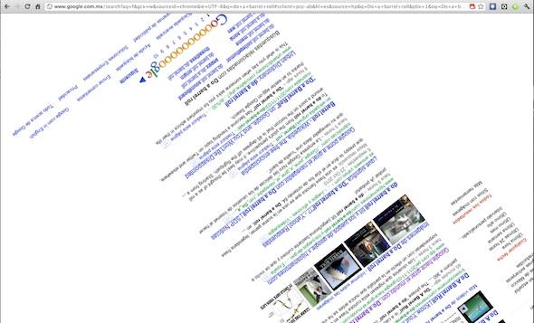 do a barrel roll Google gira al mundo con Do a Barrel Roll
