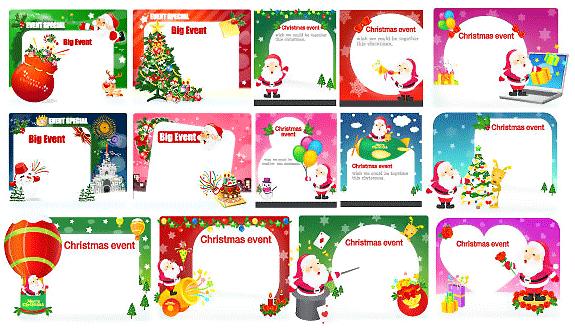 christmas card in vector Colección de vectores de Navidad para tus diseños