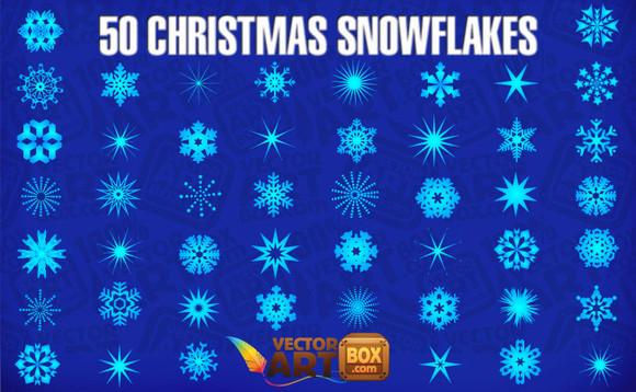 christmas snowflakes Colección de vectores de Navidad para tus diseños