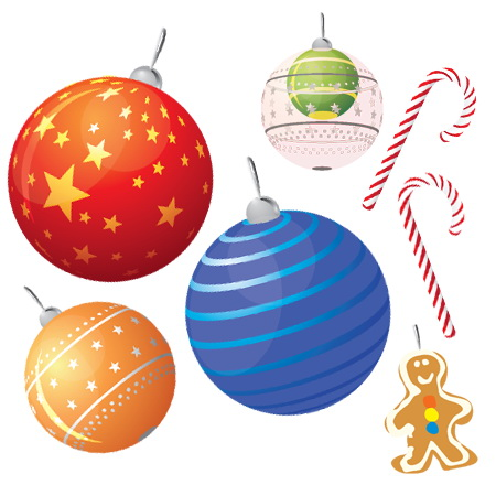 christmas vector set1 Colección de vectores de Navidad para tus diseños