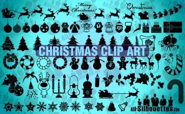 christmasclipart 590x364 Colección de vectores de Navidad para tus diseños