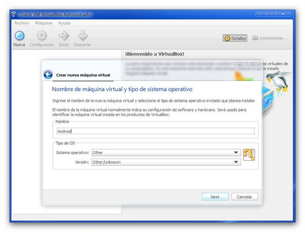 honeycombvb Probar Android 3.2 Honeycomb desde una máquina virtual