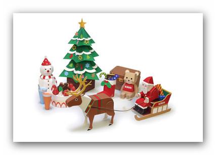 kirin set navidad Colección con los mejores Paper Toys para Navidad