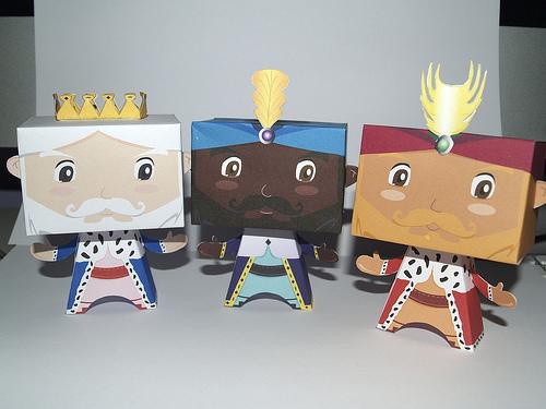 reyes magos paper toys Colección con los mejores Paper Toys para Navidad