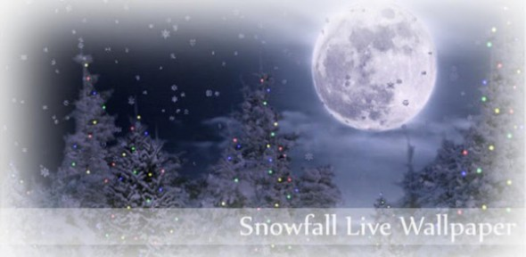 snowfall live wallpaper 590x288 Colección de Live Wallpapers navideños para Android
