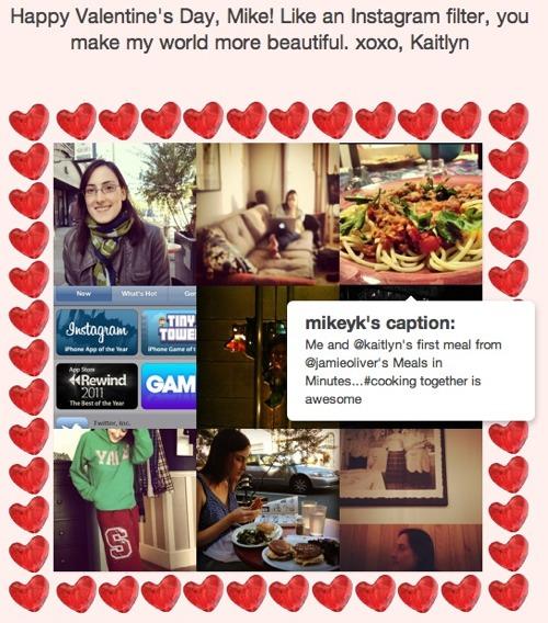 postal san valenti lovestagram Crea postales de San Valentín con tus fotos de Instagram con Lovestagram
