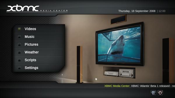 xbmc home1 Tres alternativas a Boxee Media Center a raíz de su muerte para PC