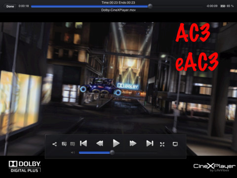 cinexplayer controles CineXPlayer: Reproduce XviD en tu iPad sin conversiones [Reseña]