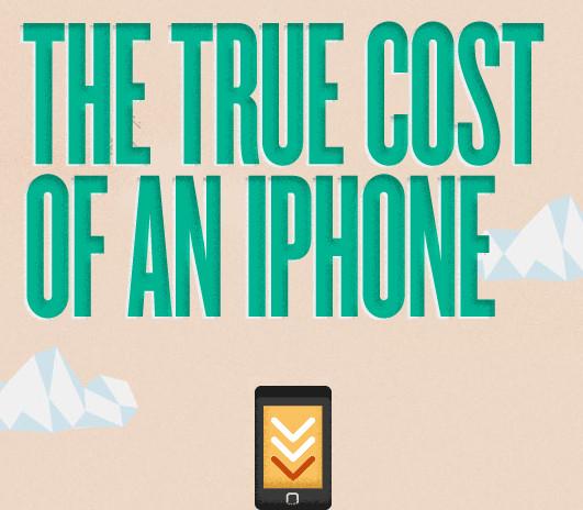 el verdadero costo iphone El verdadero costo de un iPhone [Infografía HTML5]