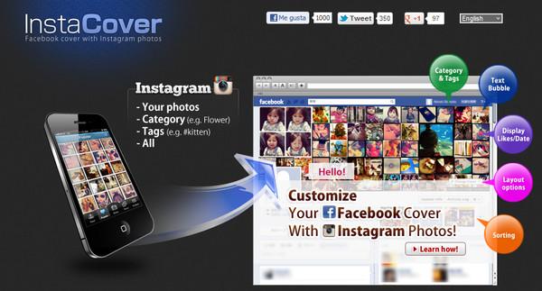 instacover Personaliza tu cabecera de Facebook con InstaCover