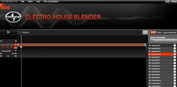 Electric house blender Crear mezclas como DJ con Electric House Blender
