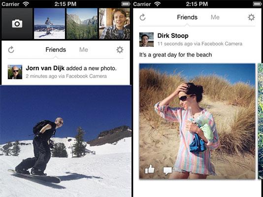 Facebook camera ios Facebook Camera para iPhone, la nueva aplicación de fotos de la red social