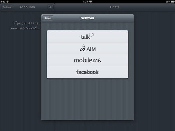 verbs Abrir messenger desde el celular