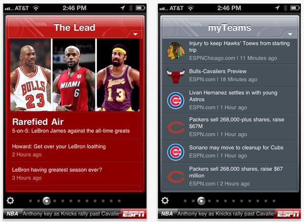 espn scorecenter Apps para consultar resultados deportivos