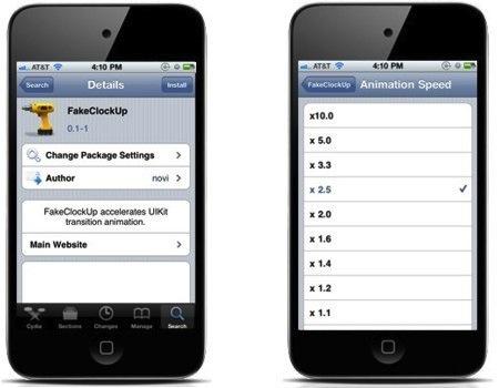 Como aumentar la velocidad de tu iPhone 3G, 3GS y 4 con FakeClockUp