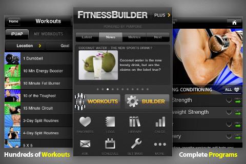 fitnessbuilder Apps para hacer ejercicio con tu smartphone