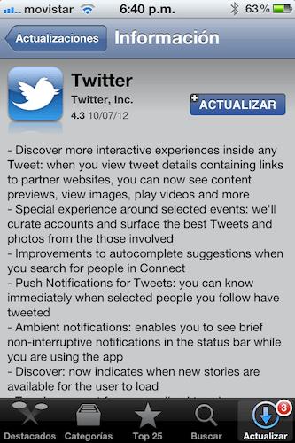 IMG 2543 Twitter para iOS se actualiza a su versión 4.3