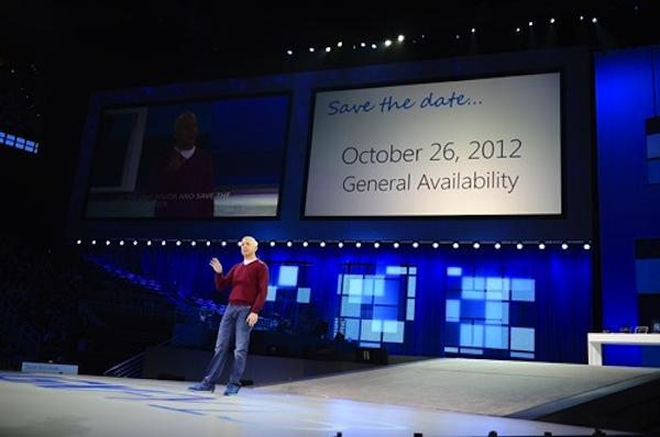 Microsoft confirma la fecha de salida de Windows 8 para el 26 de octubre